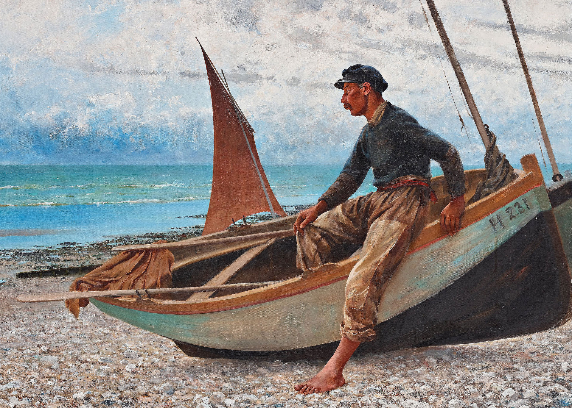 Puzzle Central The Sailor, painting by August Hagborg