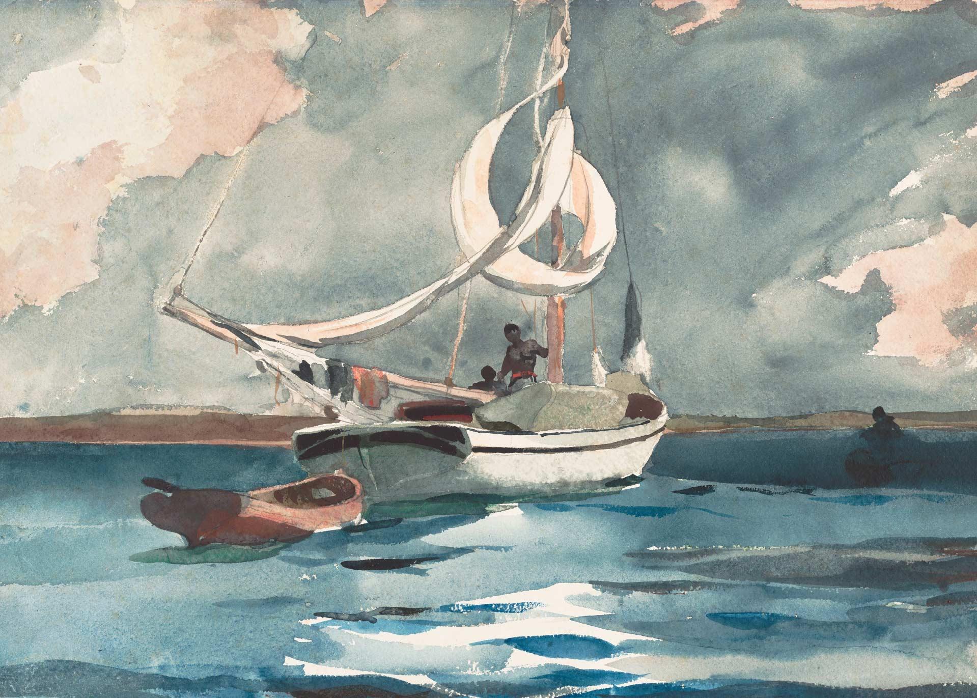 Winslow Homer —Sloop, Nassau